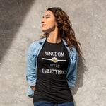 Kingdom Over Everything (Dark Colors) | Awesome Kingdom Christian T-Shirt (Women's) - Kingdom Christian Clothing Store