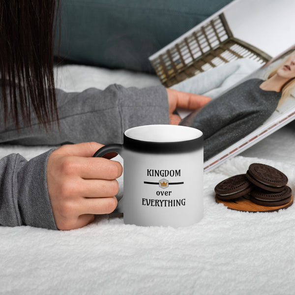 Kingdom Over Everything (Exclusive) Coffee Cup | Christian Coffee Mug - Kingdom Christian Clothing Store