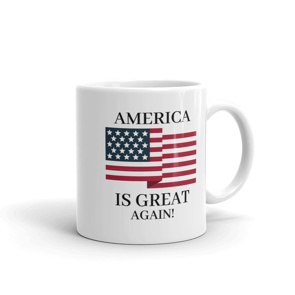 America Is Great Coffee Mug | Patriotic - Usa Coffee Cup - Kingdom Christian Clothing Store