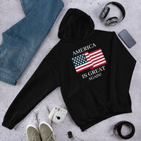 America Is Great (Unisex) | Patriotic - Usa Hoodie | Dark Colors - Kingdom Christian Clothing Store