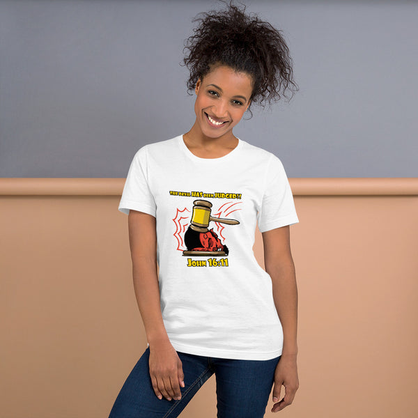 The Devil Has Already Been Judged (Light) | Christian Women's T-Shirt - Kingdom Christian Clothing Store