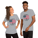 America Is Great (Unisex) | Patriotic Tee | Light Colors - Kingdom Christian Clothing Store