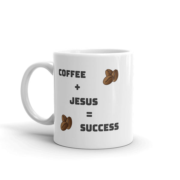 Coffee Plus Jesus Coffee Cup | Christian Coffee Mug - Kingdom Christian Clothing Store