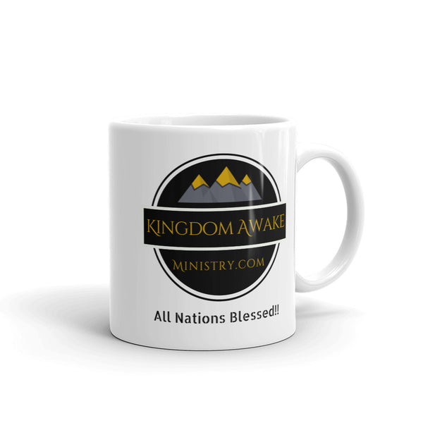 Kingdom Awake Ministry - White Glossy Mug - Kingdom Christian Clothing Store