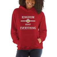 Kingdom Over Everything Hooded Sweatshirt (Dark) | Women's Christian Hoodie - Kingdom Christian Clothing Store