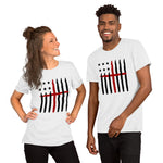 American Flag And Cross T-Shirt (UNISEX) | New Patriotic T-Shirt Design | Light Dark Colors - Kingdom Christian Clothing Store
