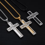 Super Stylish Jesus Cross Necklace | Christian Jewelry For Men - Kingdom Christian Clothing Store