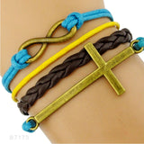Leather Infinity Love Women's Bracelets | Christian Jewelry - Kingdom Christian Clothing Store