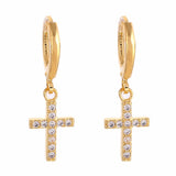 Women's Small Cross Earrings | Christian Women's Jewelry - Kingdom Christian Clothing Store