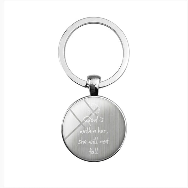 Scripture Encouragement Key Chains | Christian Jewelry | Christian Key Chains - Kingdom Christian Clothing Store