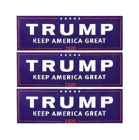 3/10Pcs Donald Trump For President 2020 Bumper Body Car Sticker Keep Make America Great Decor Car Styling Fashion 23cm x 7.6cm - Kingdom Christian Clothing Store