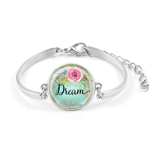Women's Christian Bracelet | Handmade Glass Dome Women's Bracelets - Kingdom Christian Clothing Store