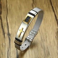 Limited Edition Men's Cross Watch Band Bracelet | Men's Christian Jewelry - Kingdom Christian Clothing Store