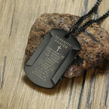 Serenity Prayer Dog Tag Necklace | Christian Jewelry | Christian Necklace - Kingdom Christian Clothing Store