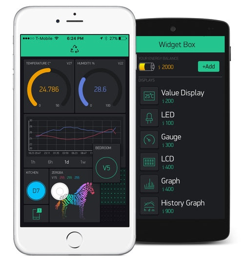 Blynk - The most popular mobile app for IoT - now integrated with JemRF