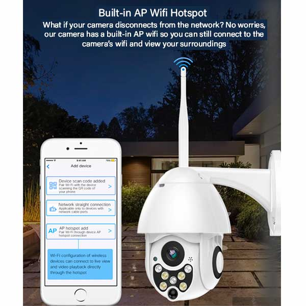 Outdoor WiFi Camera - Wireless Outdoor Security Camera