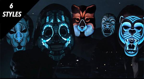 Sound Activated Mask - Sound Reactive Led Mask