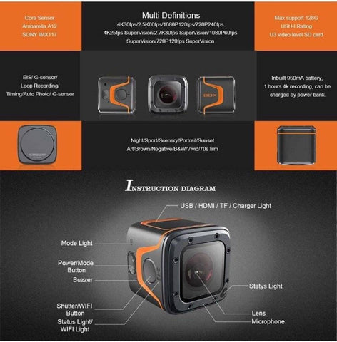 4k HD Mini Action Cam
