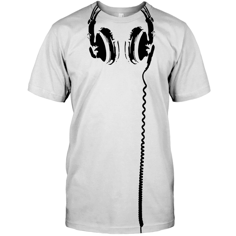 Headphones T Shirt - DJ T Shirt