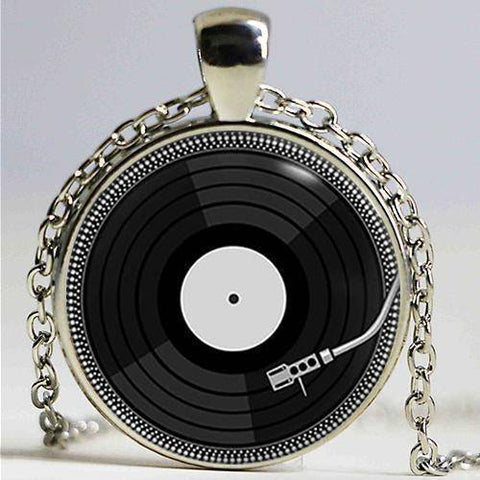 Vinyl Record Necklace