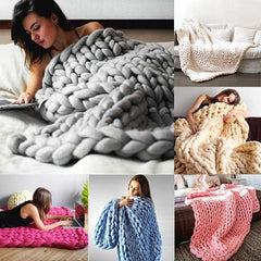Giant Super Comfy Handwoven Chunky Knit Blanket
