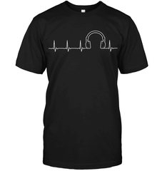 Headphone Heartbeat T Shirt - DJ T Shirt