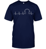 Image of Headphone Heartbeat T Shirt - DJ T Shirt