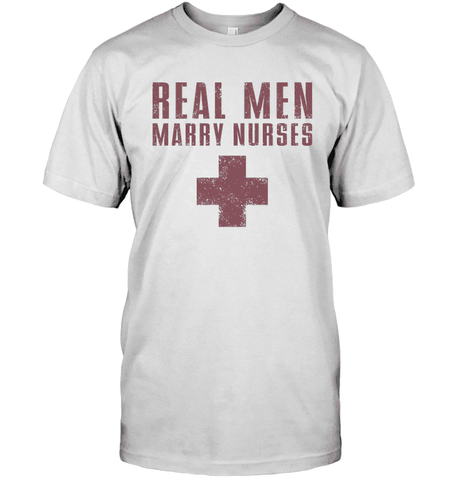 Real Men Marry Nurses (Red Text With Cross)