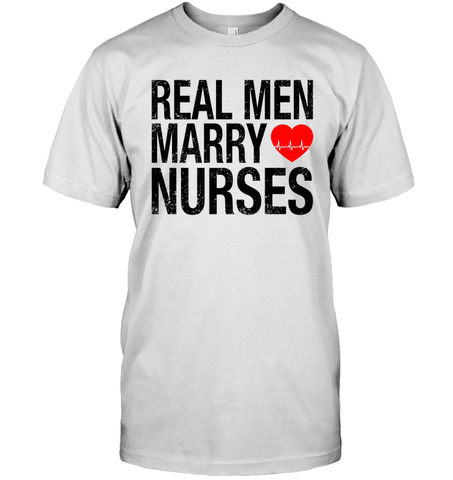 Real Men Marry Nurses (Black Text With EKG)