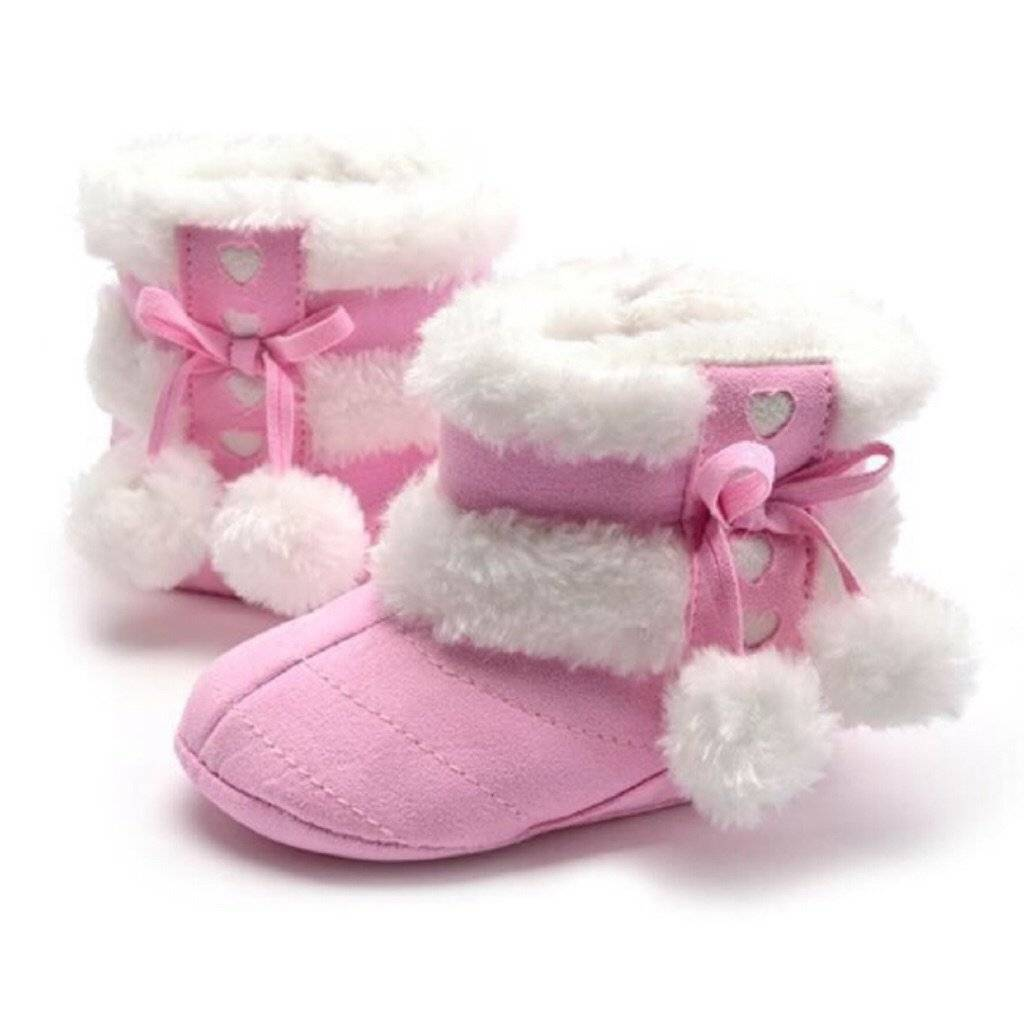 Furry Style Winter Baby Booties