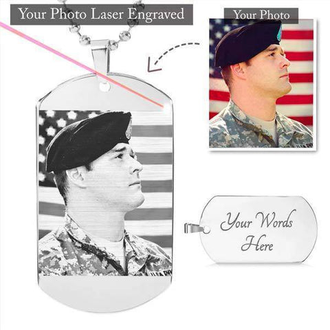 Personalized Dog Tag - Custom Picture Engraved Dog Tag