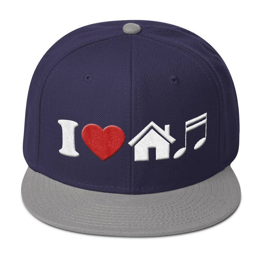I Heart House Music Snapback Hat