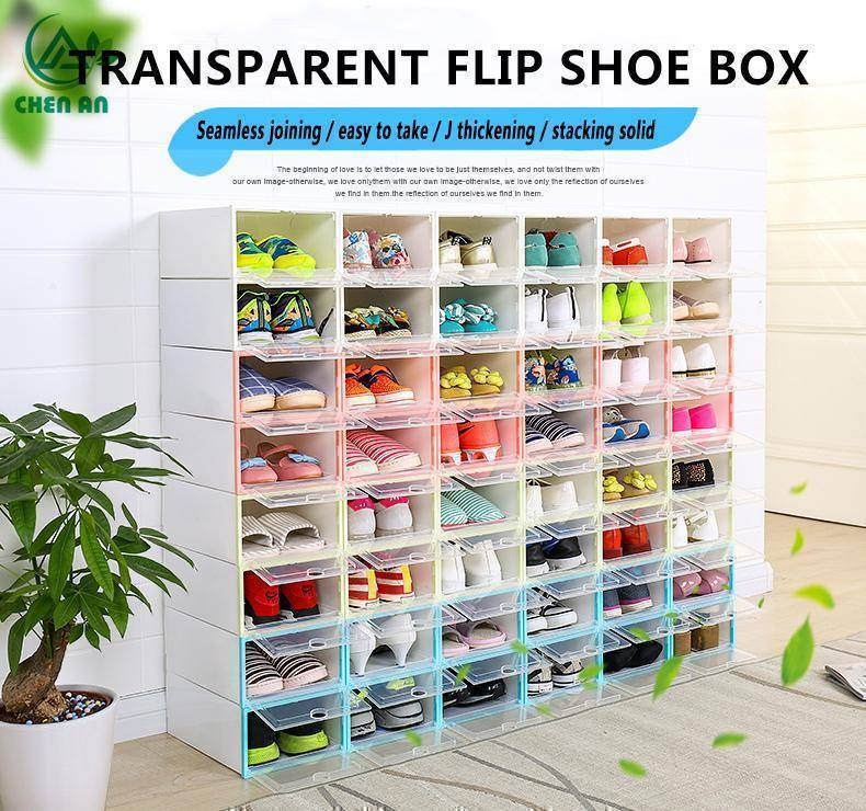 Shoe Organizer - Clear Shoe Box Storage