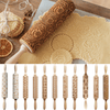 Image of Christmas Rolling Pin - Embossed Rolling Pin