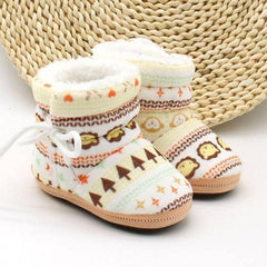 Winter Print Themed Baby Booties