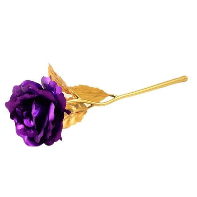 purple golden rose