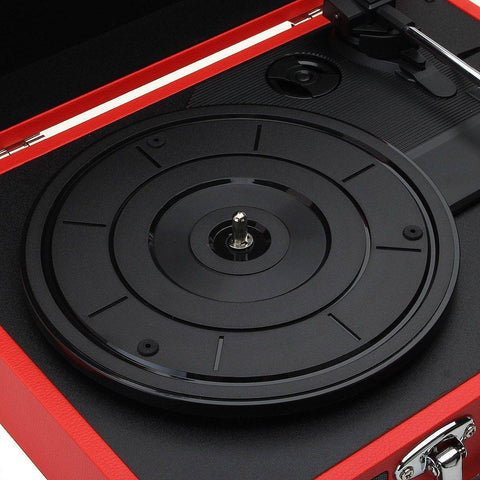 Record Player With Bluetooth Connection & Built-In Speaker