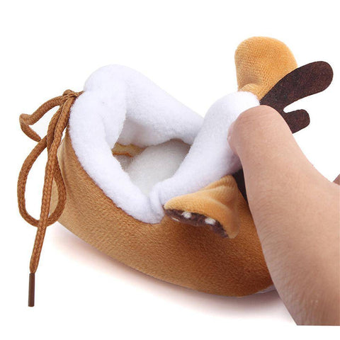 Cute Deer Baby Booties