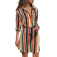 Women's Summer Striped Casual Beach Dress