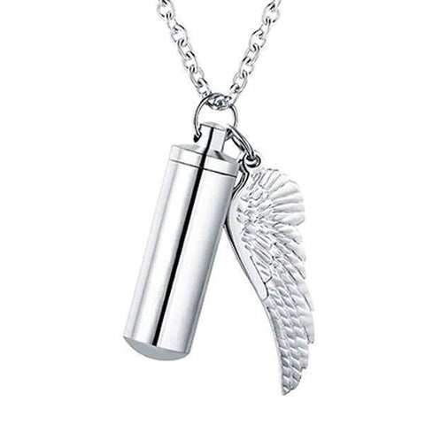 Angel Wing Urn Necklace - Cremation Necklace