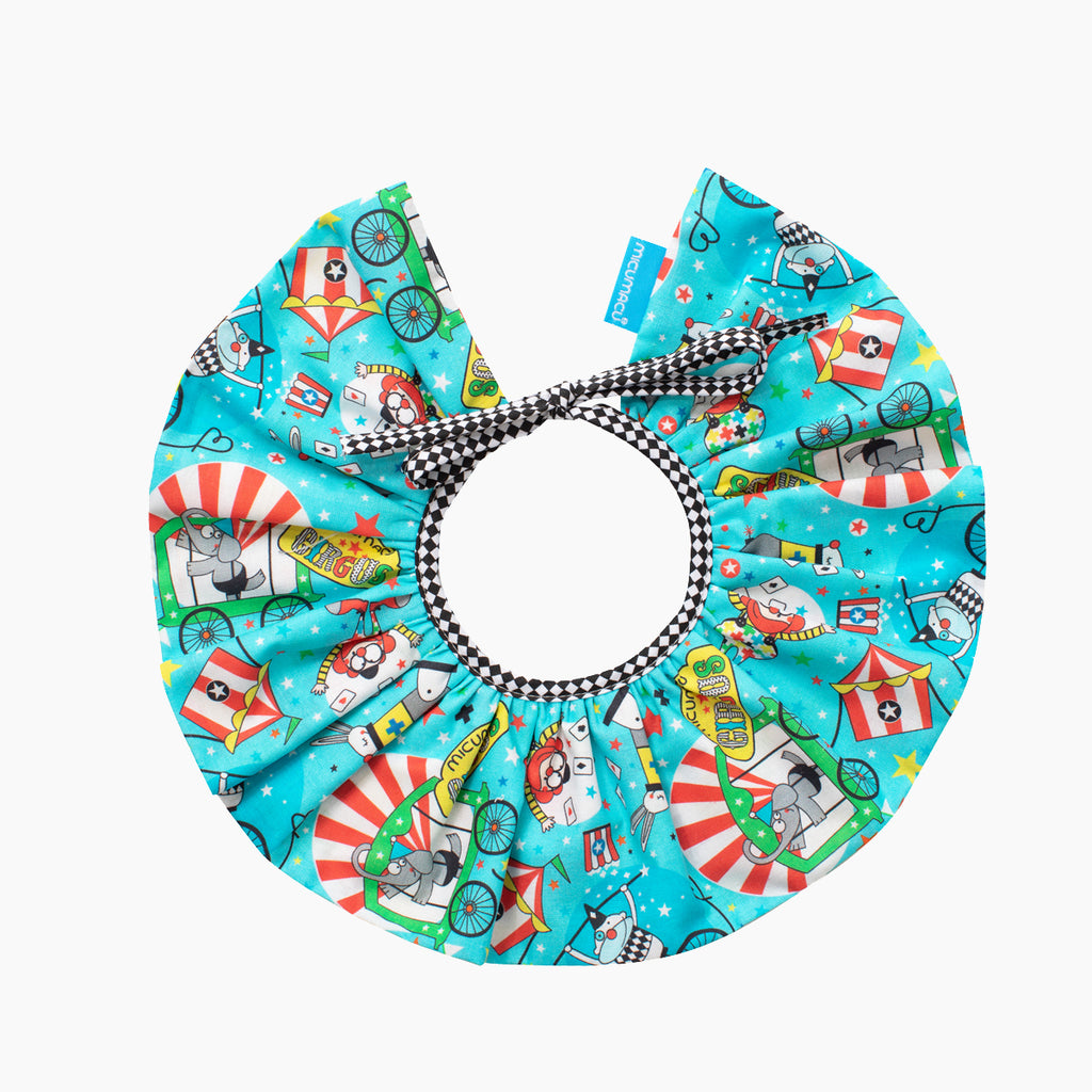 Cuello reversible blue circus