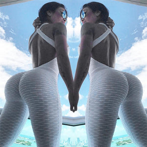 Anti-Cellulite Compression Yoga Sports Pants Hips Jumpsuit