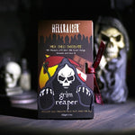 X GRIM REAPER Hell Raiser™ Ghost Chilli Milk Chocolate Bar (33.6% Cocoa) with Sweet Orange, Cinnamon & Clove