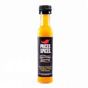 X PRICES SPICES Haitian Hottie Chilli Sauce, Mango, Peach & Jamaican 7 Pot Chilli Sauce 110ML
