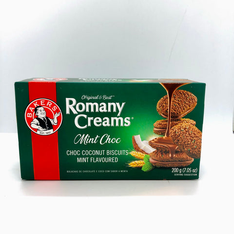 x BAKERS Romany Creams Mint Choc