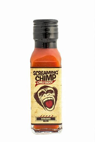 x SCREAMING CHIMP Screamer chilli sauce