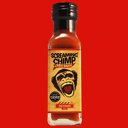 x SCREAMING CHIMP The Stinger chilli sauce