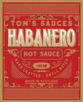 X TOM'S SAUCES Habanero Hot Sauce (150ml)