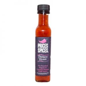 X PRICES SPICES Phoenix Rising Chilli Sauce, Fire Roasted Red Pepper & Carolina Reaper Chilli Sauce 110ML