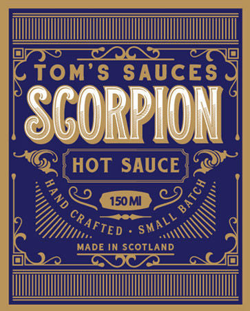 X TOM'S SAUCES Scorpion Hot Sauce (150ml)